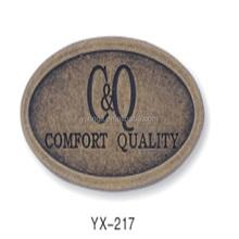 zinc alloy metal logo badge logo plate custom coin logo