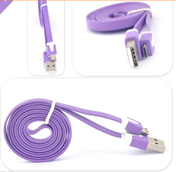 2M/6ft flat Noodle Style USB Data Sync Charger Cable for Ipad 2/Ipad3/Ipad1/Ipod/Iphone3/Iphoe4/4G/4S
