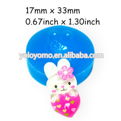 PYL105 Easter Bunny Rabbit with Heart Silicone Mold - Cake Decorating Chocolate Fondant Mould, forma de silicone Candle Molds