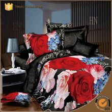 ONLY USD 13.8 duvet cover set bed sheet set comforter in romantic flower