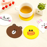 Colorful anti-slip color silicone rubber mat magnetic cartoon kitchen rubber mat for bar