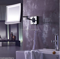 Square Lighted Magic Magnify Wall Mounted Bathroom Compact Make Up Mirror & Cosmetic Mirror 0754