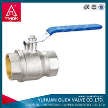 Brass tk floating ball valve with steel handle