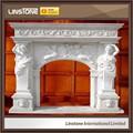 casa de estilo moderno la decoración repisa de la chimenea de mármol