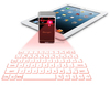 Mini Ultra-thin Novelty portable virtual red infrared projection bluetooth keyboard for phone