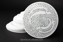 2015 Hot sell cute cartoon cup coasters,PVC rubber cup mat,custom special tea mat