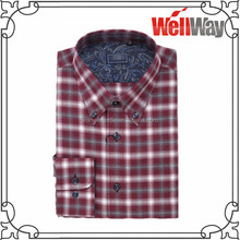 2015 check design printed cheap flannel shirts