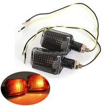 2 pezzi moto universale moto turno segnali indicatori di direzione ambra chiaro lampada lente fumo grande- rock stile