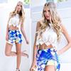 crop tank tops wholesale Summer Sleeveless Short T-shirt plain white Blouse boutiqu instyles Women's Clothing
