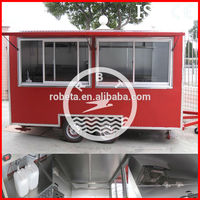 Multi-function fast food trailer for sale/food van with CE