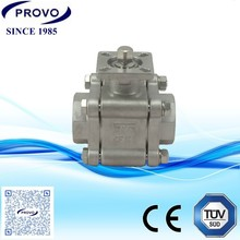 stainless steel 1/4inch 3000 psi mini natural gas ball valve
