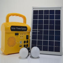 Mini solar storage energy system for lighting ,mobile charging ,fan