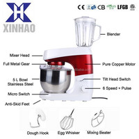 5L 1000W multifunction stand mixer, moulinex stand mixer with blender glass jar