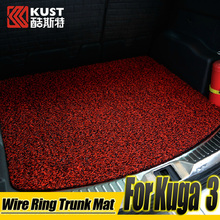 PVC Material Wire Ring Trunk Mat For Kuga 3 New Wire Ring Trunk Carpet For Kuga 2012 To 2015 Rear Trunk Mat For Ford For Escape