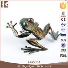 colorato rana metallo prodotti della decorazione regalo giardino statua 19x15x8cmh