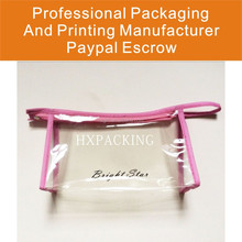 PVC Gift Cosmetic Bags With Nylon Zipper