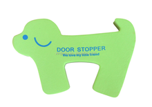 new animal dog shape door stop guard, EVA foam cartoon door stopper for kids children for sale, warehouse cushion door stops