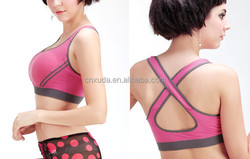 Running Yoga Workout Pink Tank Top w/Built in Sports Bra S M L