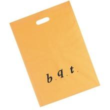 Simple Orange color Texted Printed Die Cut Punch Plastic Bag