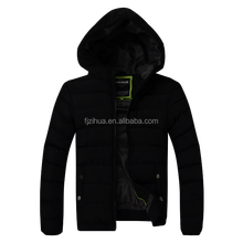 NEW Men's Short Slim leather jacket stiching Quilted hoody Cotton coat jacket