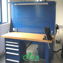 Good quality steel drawers worktable woodworking workbench with vice bench