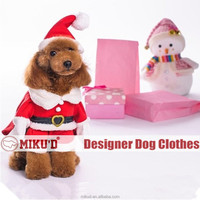 2015 Christmas Costume Best quality 100% cotton Christmas Santa Pet Costume Cosplay for dog clothes