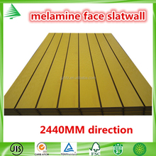 Hot sale cheap aluminium insert solid colour melamine faced MDF grooved board