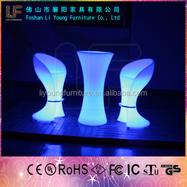 Outdoor Decorative Flashing Tables Plastic LED Light Bar Counter LGL-5656