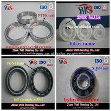 chrome steel or ceramic bicycle front/rear wheel hub ball bearing