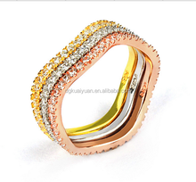Wholesale CNC diamond pave sterling silver ring ceremony gift