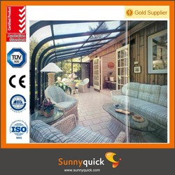 Tempered glass and aluminium frame sunrooms with Australia standard