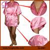 2901 Factory Customized Short Silk Satin Pink Robes