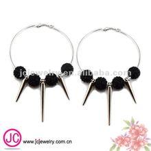 fashion jewelry hoop spike basketball wive shamballa earrings