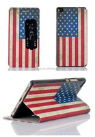 2015 New Retro US Flag Pattern View Window Stand PU Leather Flip Case For Huawei Ascend P8 Case 10 Styles