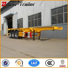 3 Axle 40feet skeleton semi trailer container chassis for sale