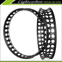 Super Light! LIGHTCARBON 2015 new carbon fat bike rim 100mm width fat bike rim only 610g