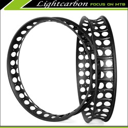 Super Light! LIGHTCARBON 2015 new carbon fat bike rim 100mm width fat bike rim only 610g