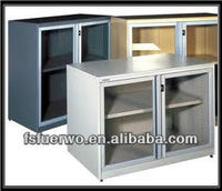 Foshan low and small mirrored file cabinet