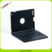 With 4000mAh power bank rotating bluetooth keyboard case for iPad 2 3 4 BK327