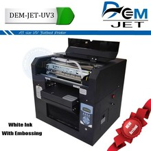 A3 size uv inkjet printer ink with 6 colors ink whte ink