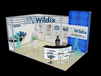 China 4*6 meters aluminium exhibition stand, portable stand with floor system, arches large banner
