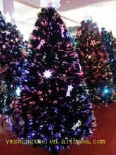 2015 Fashion Fiber Optic Led Black Christmas Tree With Angel, Christmas Decorations