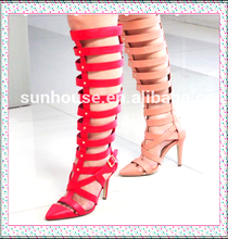 2015 New Design PU Women Dress Sandals Shoes