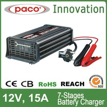 Battery charger for programming 12V 15A,7 stage automatic charging with CE,CB,RoHS certificate