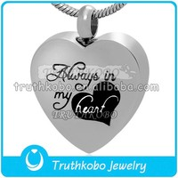 Perfect memorials always in my heart stainless steel cremation jewelry pendant keepsake urn necklace bulk buy from china