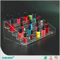 guangzhou venta al por mayor de plexiglás de esmalte de uñas estante de exhibición