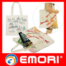 Inexpensive natural organic recyclable shopping cotton bag