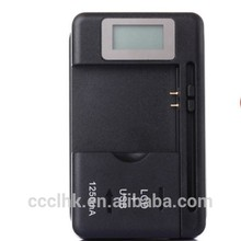 1250 mAh cargador de batería Universal para el teléfono elegante con LCD y USB