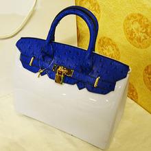 online shopping hong kong designer brandname ostrich tote silicone handbag CD035