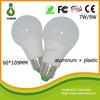 Famous bulb light led e27 3w 5w 7w 9w led bulb housing with plastic &aluminum